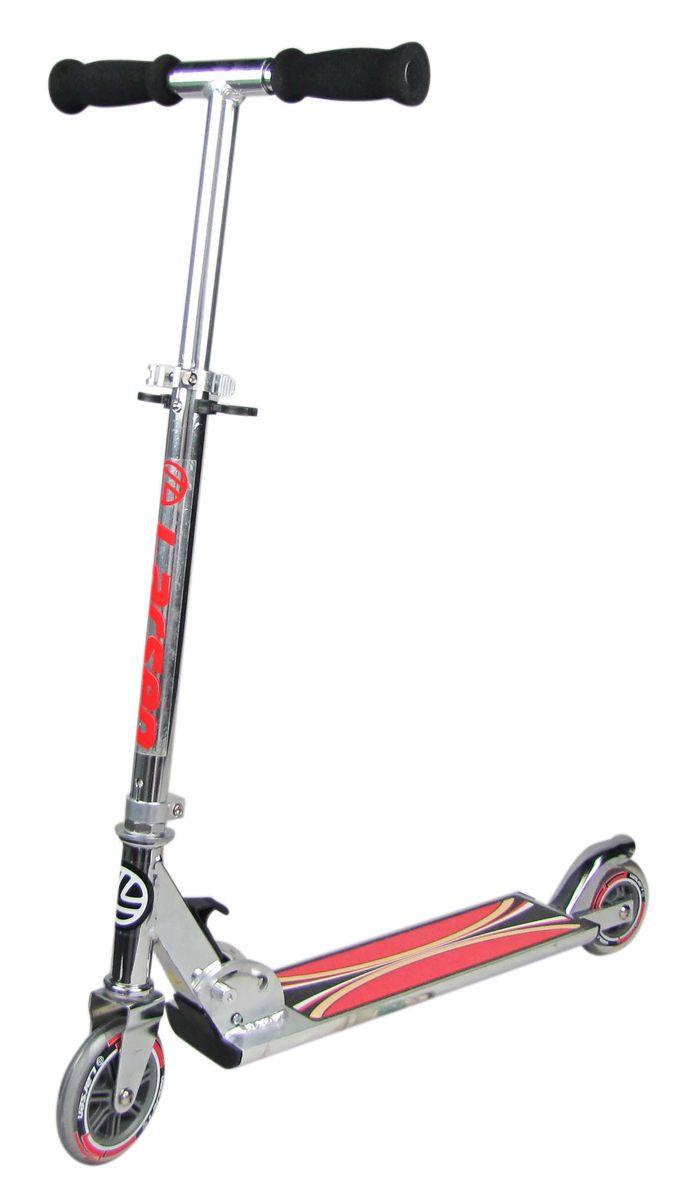 Самокат Larsen, цвет: светло-серый. BZ3205338581Дека с порошковым напылением. Регулируемая высота рулевой стойки: 65-84,5 см.