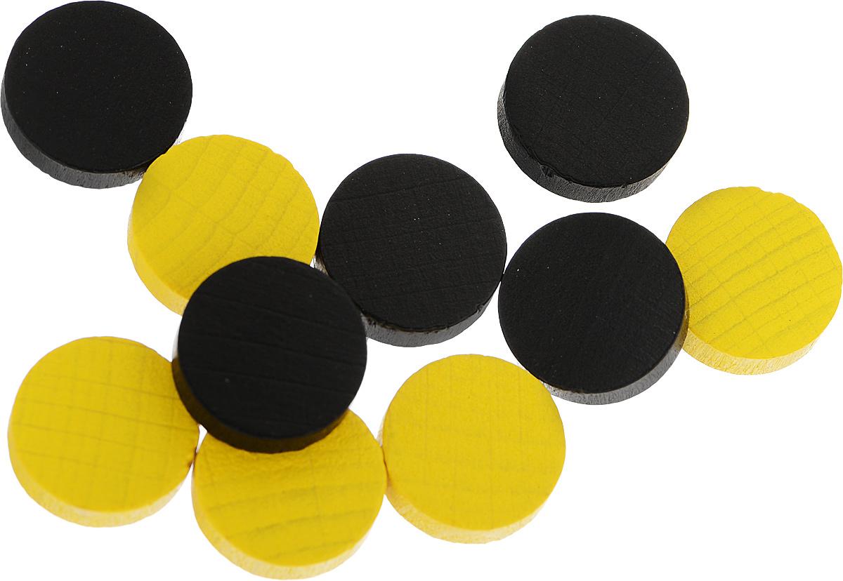 Pandoras Box Набор фишек Эко-стиль диаметр 15 мм цвет желтый черный 10 шт06LZ021_желтый, черныйНабор фишек Эко-стиль предназначены для настольных игр. Фишки можно использовать для отметки уровня ресурсов жизни, победных очков при игре в настольные игры. В наборе имеются фишки двух разных цветов. Фишки выполнены из натурального дерева и покрыты яркой краской. Набор содержит 10 фишек диаметром 1,5 см.