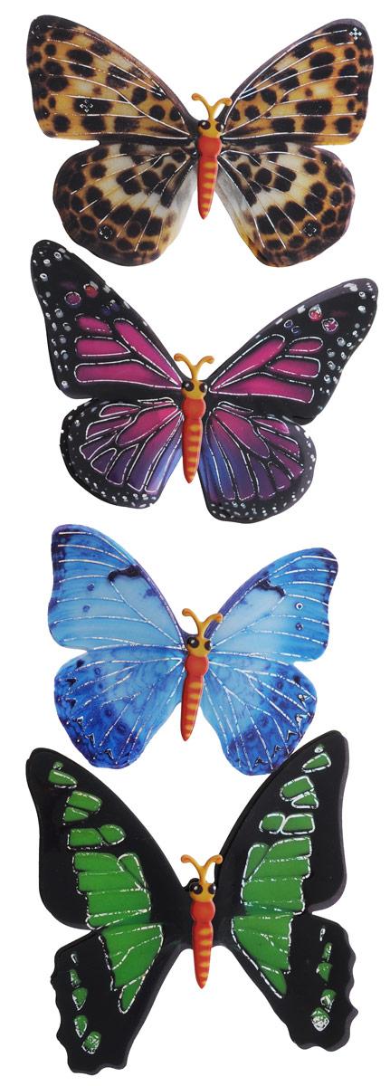 Room Decor Наклейка 3D Бабочки 4 шт 890406 3 ( 890406_3 )