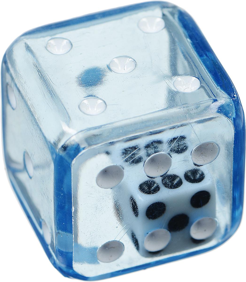 Koplow Games Кость игральная Кубик в кубике D6 цвет синий11687_синийИгральная кость Кубик в кубике состоит из прозрачного кубика D6 с маленьким белым кубиком внутри. На каждую сторону кости нанесены числа от 1 до 6. Целью игральной кости является демонстрация случайно определенного числа, каждое из которых является равновозможным, благодаря правильной геометрической форме. При броске на двух кубиках D6 выбрасываются два значения. Игральная кость выполнены из прочного пластика.