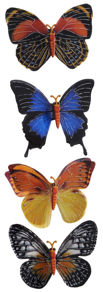 Room Decor Наклейка 3D Бабочки 4 шт 890406 2 ( 890406_2 )