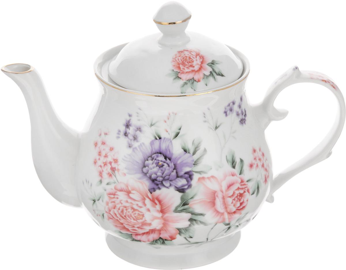 Чайник заварочный Loraine, 800 мл. 2458024580Заварочный чайник Loraine изготовлен из высококачественной керамики. Он имеет изящную форму и декорирован нежным цветочным рисунком. Чайник сочетает в себе стильный дизайн с максимальной функциональностью. Красочность оформления придется по вкусу и ценителям классики, и тем, кто предпочитает утонченность и изысканность. Чайник упакован в подарочную коробку из плотного картона. Внутренняя часть коробки задрапирована атласом, и чайник надежно крепится в определенном положении благодаря особым выемкам в коробке. Высота чайника (без учета крышки): 12 см. Высота чайника (с учетом крышки): 17 см. Диаметр (по верхнему краю): 9 см. Диаметр основания: 8,5 см.