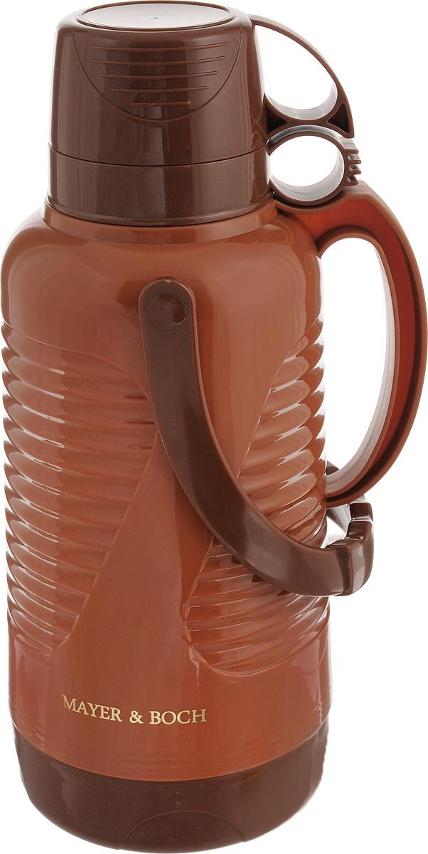 Термос Mayer & Boch, с чашами, цвет: коричневый, светло-коричневый, 3,2 л24901Термос Mayer & Boch выполнен из высококачественного полипропилена и оснащен стеклянной колбой. Его температурная характеристика ни в чем не уступает термосам со стальными колбами, но благодаря свойствам стекла этот термос может быть использован для заваривания напитков с устойчивыми ароматами. В комплекте с термосом - две чашки разных размеров. Завинчивающаяся герметичная крышка предохранит от проливаний. Этот термос станет не только надежным другом в походе, но и отличным украшением вашей кухни. Высота термоса (без учета крышки): 38,5 см. Диаметр основания: 15 см. Диаметр большой чашки: 10,8 см. Высота большой чашки: 8 см. Диаметр маленькой чашки: 10,5 см. Высота маленькой чашки: 6 см.