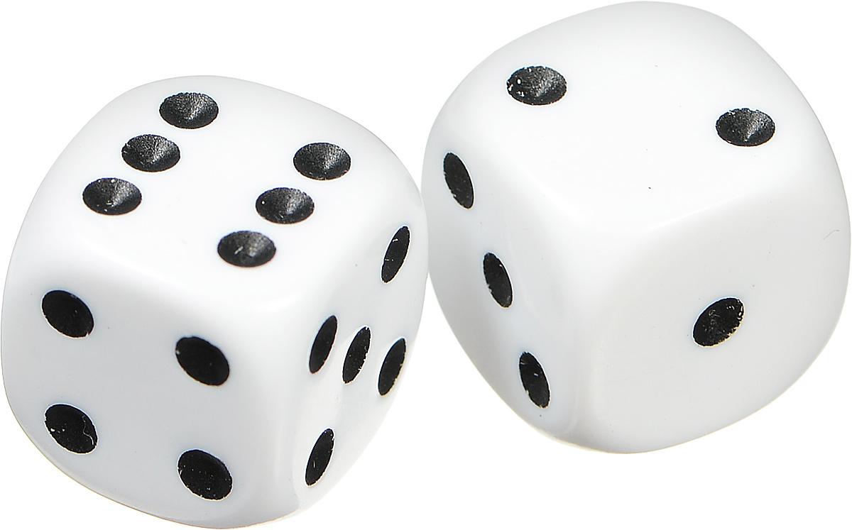 Pandoras Box Набор кубиков для настольных игр цвет белый 2 шт02DG129_белыйНабор игральных кубиков Pandoras Box предназначен для настольных игр. Набор состоит из двух шестигранных кубиков. На каждую сторону игральных кубиков нанесены в виде точек числа от 1 до 6. Целью броска кубика является демонстрация случайно определенного числа, каждое из которых является равновозможным благодаря правильной геометрической форме. Игральные кубики выполнены из прочного пластика.