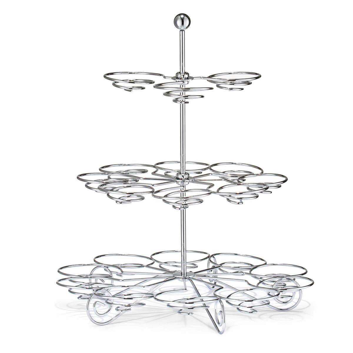 Ваза для десерта Zeller, 3-ярусная, 30 х 34 см27305Изящная ваза для десерта Zeller выполнена из стали и имеет три яруса. Такая ваза украсит стол и позволит подать одновременно много вкусного угощения, не занимая при этом много места на столе. Ваза украсит интерьер вашей кухни и станет отличным подарком.
