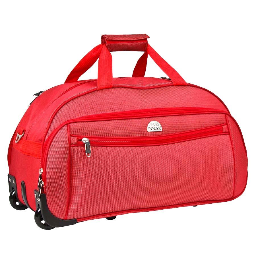 Сумка дорожная на колесах Polar, 59 л, цвет: красный. 7019.57019.5Сумка на колесах Polar. Основное отделение на подкладке из нейлона. Все стенки сумки пропенены для предотвращения ударных нагрузок. Внутри — карман-сетка. Снаружи — три кармана на молнии. Имеется съемный плечевой ремень, что бы носить сумку через плечо.