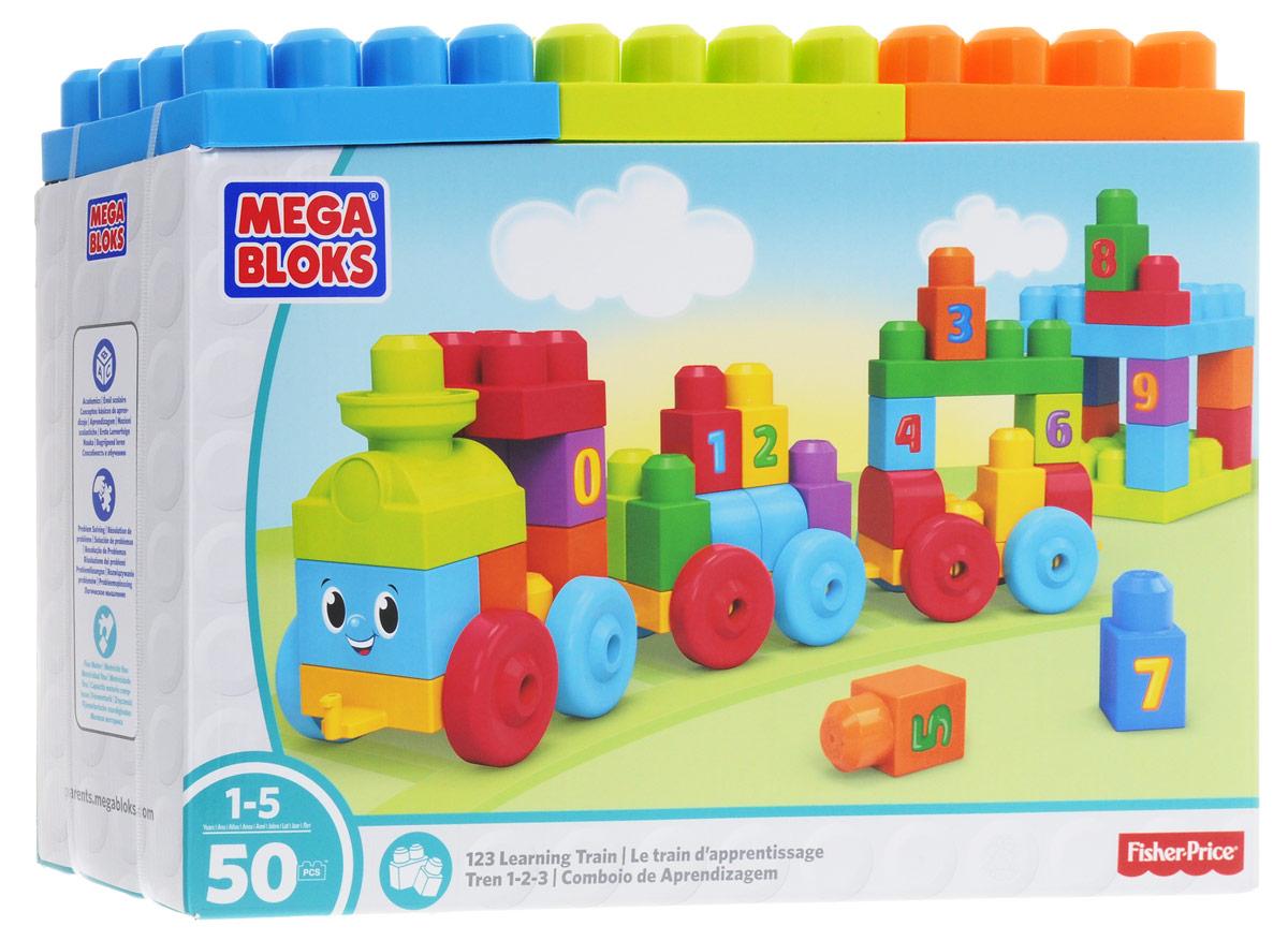 Mega Bloks First Builders Конструктор Поезд Учимся считать DKX60DKX60Ваш малыш быстро научится считать с поездом Учимся считать из серии First Builders от Mega Bloks! Узнайте все о цифрах и счете, используя для сборки жизнерадостного поезда и яркого вокзала три набора колес, кубики First Builders с цифрами и особые детали. В наборе по два кубика с цифрами от 0 до 9, из которых можно строить красочные вагончики, а также выстраивать ряды цифр! В набор также входит три большие строительные плиты, из которых можно построить вокзал или то, что подскажет вам воображение! Для детей от 1 года до 5 лет.