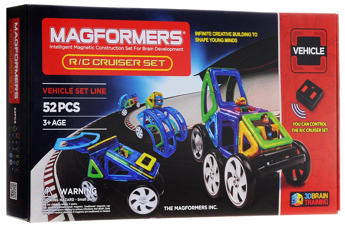Magformers Магнитный конструктор Cruiser Set63091_Cruiser SetМагнитный конструктор Magformers Cruiser Set - это конструктор на дистанционном управлении. С ним все ваши постройки обретут новую жизнь в движении! В этот великолепный набор входят колеса и пульт дистанционного управления, а также большое количество совершенно новых деталей: суперарка, суперсектор,суперпрямоугольник. Набор идеален и как развитие вашей коллекции Magformers, и как первый конструктор Magformers у вас дома. Ведь все детали конструкторов Magformers 100% совместимы друг с другом. Магнитный конструктор Magformers Cruiser Set - еще больше элементов для увлекательного конструирования. Прекрасный подарок для ребенка, который любит не только конструкторы, но и динамичные игрушки! Для работы пульта управления необходимо купить 3 батарейки напряжением 1,5V типа ААА (не входят в комплект). Для работы управляемого шасси необходимо купить 3 батарейки напряжением 1,5V типа ААА (не входят в комплект).