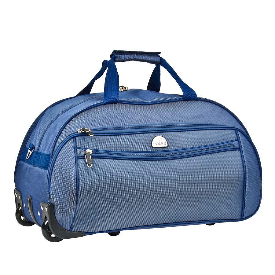 Сумка дорожная на колесах Polar, 59 л, цвет: синий. 7019.57019.5Сумка на колесах Polar. Основное отделение на подкладке из нейлона. Все стенки сумки пропенены для предотвращения ударных нагрузок. Внутри — карман-сетка. Снаружи — три кармана на молнии. Имеется съемный плечевой ремень, что бы носить сумку через плечо.