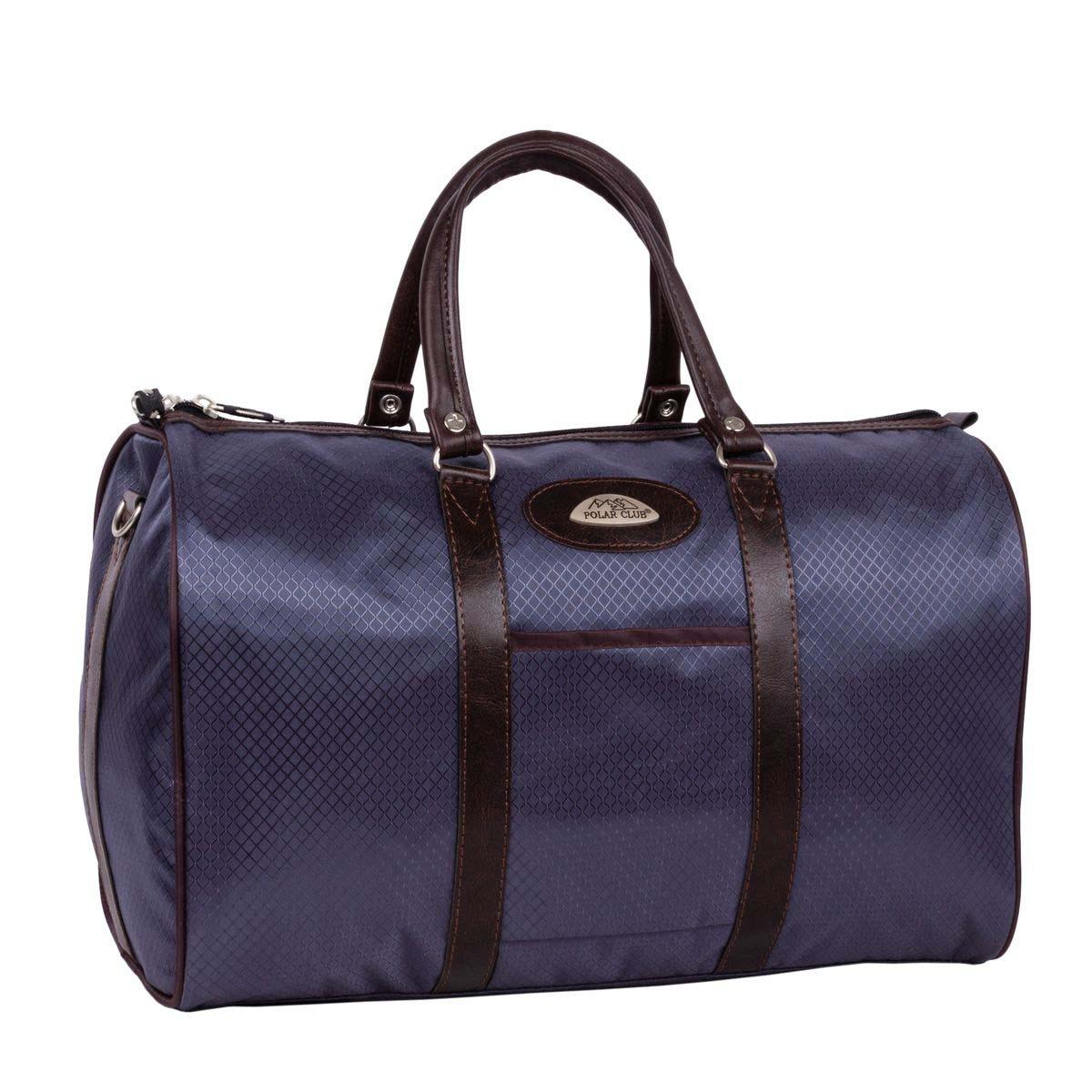 Сумка дорожная Polar, 18,5 л, цвет: синяя клетка. 6096-046096-04Небольшая вместительная дорожная сумка из полиэстера с водоотталкивающей пропиткой. Внутри дополнительный карман для документов. В комплект входит съемный плечевой ремень.