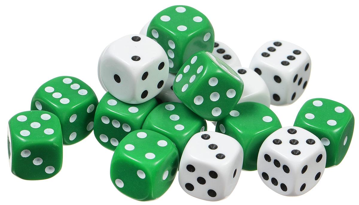 Pandoras Box Набор кубиков Симпл для нард 18 шт цвет белый зеленый02DG130_белый, зеленыйНабор Симпл состоит из восемнадцати кубиков для игры в нарды. В наборе присутствуют кубики красного и белого цвета. Кубики имеют стандартную квадратную форму. На грани кубиков нанесены точки от 1 до 6. На красных кубиках точки белого цвета, на белых кубиках - красного. Набор выполнен из прочного безопасного пластика.
