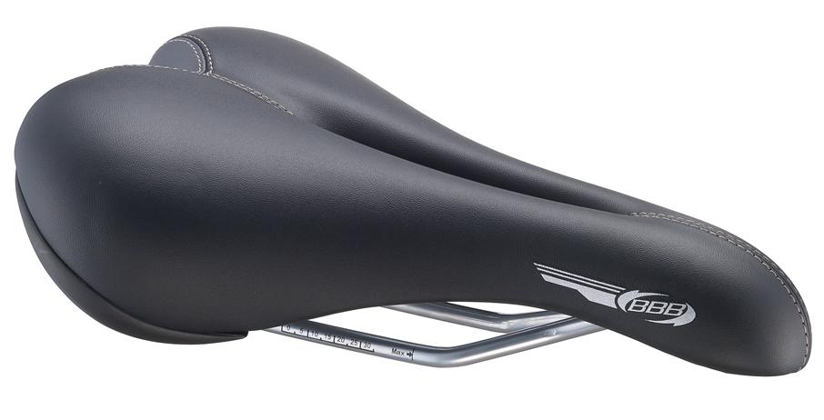 Седло мужское спортивное BBB SmoothDensity. BSD-14BSD-14Роскошное, спортивное седло с синтетическим кожаным покрытием. Отверстие в центральной части предотвращает возможное онемение, особенно в течение длительного катания. Высокое качество прошивки - не будет разъезжаться даже после долгого использования. Пластиковые вставки черного цвета защищают наиболее уязвимые части седла от протирания. Легкие рельсы из CrMo с индикаторами корректировки.