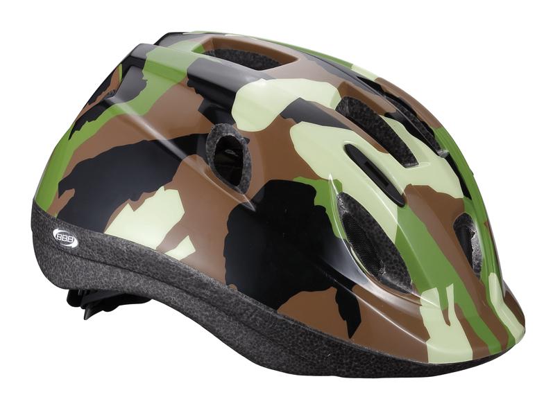 Летний шлем BBB Boogy, цвет: камуфляж. BHE-37. Размер M (52-56 см)BHE-37Легкий и надежный велосипедный шлем для детей. 12 вентиляционных отверстий. Защитная сетка от насекомых. Регулируемые ремни для идеальной посадки. Удобная регулировка TwistClose системы, можно регулировать одной рукой. Моющиеся антибактериальные колодки. Светоотражающие элементы сзади.
