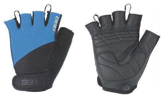 Перчатки велосипедные BBB Chase, цвет: черный, синий. BBW-49. Размер XXLBBW-49Комфортные летние перчатки. Максимальная вентиляция за счет тыльной стороны перчаток из сетчатого материала. Ладонь из материала Serino с гелевыми вставками для большего комфорта. Застежки велькро (Система WristLock). Вставка для удаления влаги/пота.