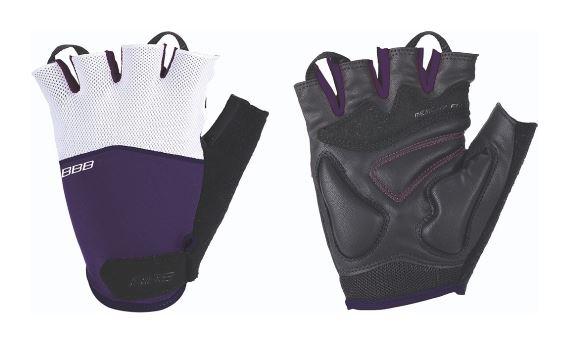 Перчатки велосипедные BBB Omnium, цвет: пурпурный, белый, черный. BBW-47. Размер MBBW-47Стильные перчатки BBB Omnium с эластичной тыльной стороной из лайкры и сетчатого материала скроены с учетом особенностей строения женских рук. Комфортная ладонь выполнена из материала clarino и вставкой из материала с эффектом памяти. Перчатки оснащены вставкой для удаления влаги/пота. Застежки велкро (Система WristLock) надежно фиксируют перчатки на руке.