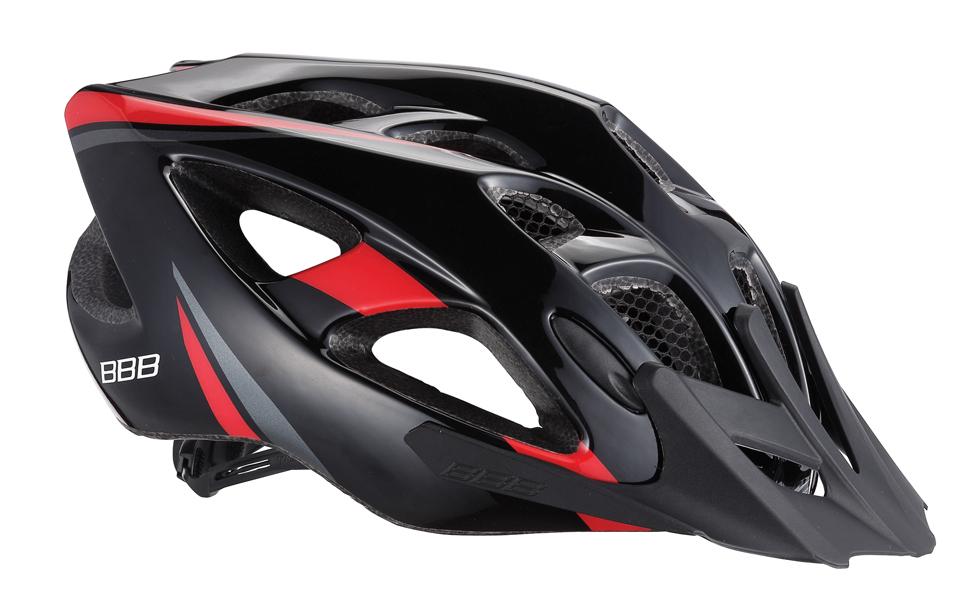 Летний шлем BBB Elbrus, цвет: матовый черный, красный. BHE-34. Размер L (57-63 см)BHE-34Интегрированная конструкция. 18 вентиляционных отверстий. Отверстия для вентиляции в задней части шлема для оптимального распределения потоков воздуха. Защитная сетка от насекомых в вентиляционных отверстиях. Настраиваемые ремешки для максимально комфортной посадки. Простая в использовании система настройки TwistClose, можно настроить шлем одной рукой. Съемные мягкие накладки с антибактериальными свойствами и возможностью стирки. Светоотражающие наклейки на задней части шлема. Съемный козырек.