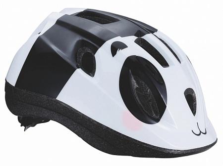 Летний шлем BBB Boogy panda. BHE-37. Размер S (48-54 см)BHE-37Легкий и надежный велосипедный шлем для детей. 12 вентиляционных отверстий. Защитная сетка от насекомых. Регулируемые ремни для идеальной посадки. Удобная регулировка TwistClose системы, можно регулировать одной рукой. Моющиеся антибактериальные колодки. Светоотражающие элементы сзади.