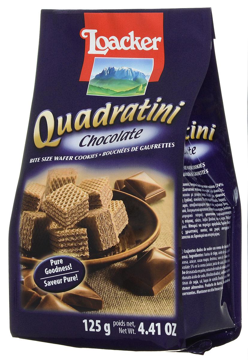 Loacker Квадратини Шоколад вафли, 125 г