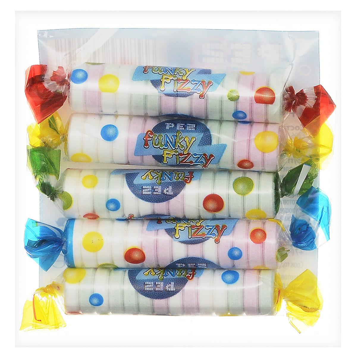 PEZ Fizzy конфеты фруктовые, 30 г ( 21215 )