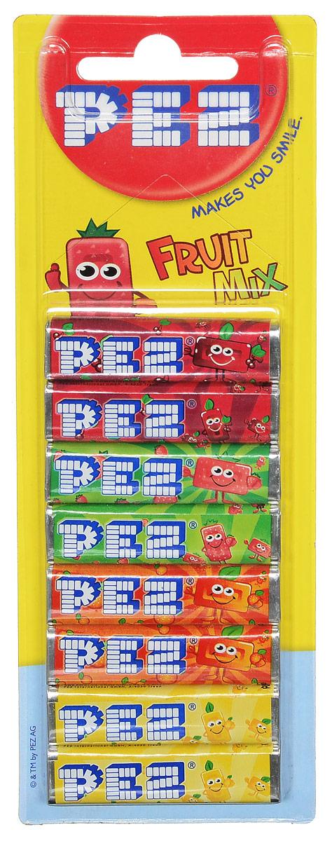 PEZ Fruit Mix конфеты, 8 шт52481PEZ Fruit Mix - конфетки-холодки с различными вкусами: вишня, клубника, апельсин, лимон. Они производятся с 1927 года. Продаются в наборе из 8 штук.