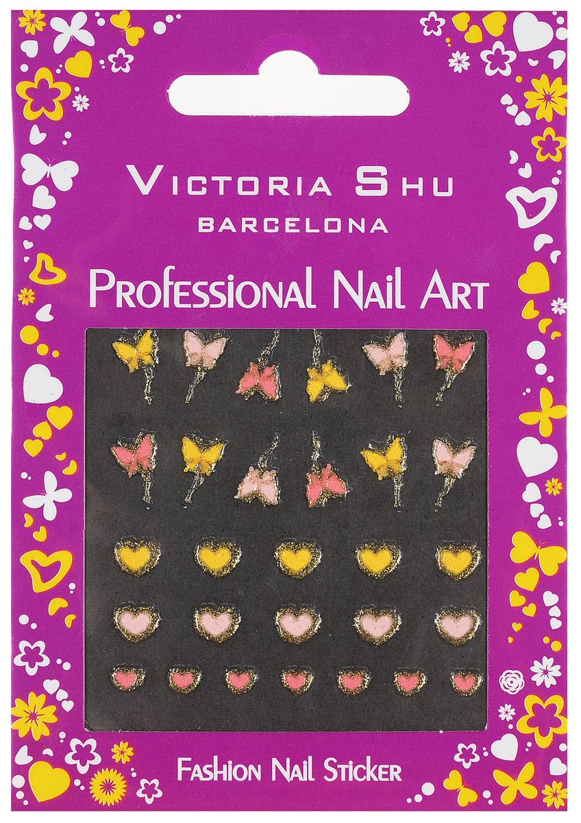 Victoria Shu Наклейки для ногтей NS012 (1 шт), 57 г1082V15672Наклейки для ногтей позволяют украсить ногти так, как это невозможно сделать при помощи обычного лака.