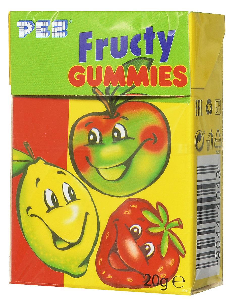 PEZ Fructy Gummies мармелад жевательный, 20 г23811PEZ Fructy Gummies - жевательный мармелад в форме фруктов с ярким насыщенным вкусом. Он подарит вам и вашим детям заряд хорошего настроения на весь день.