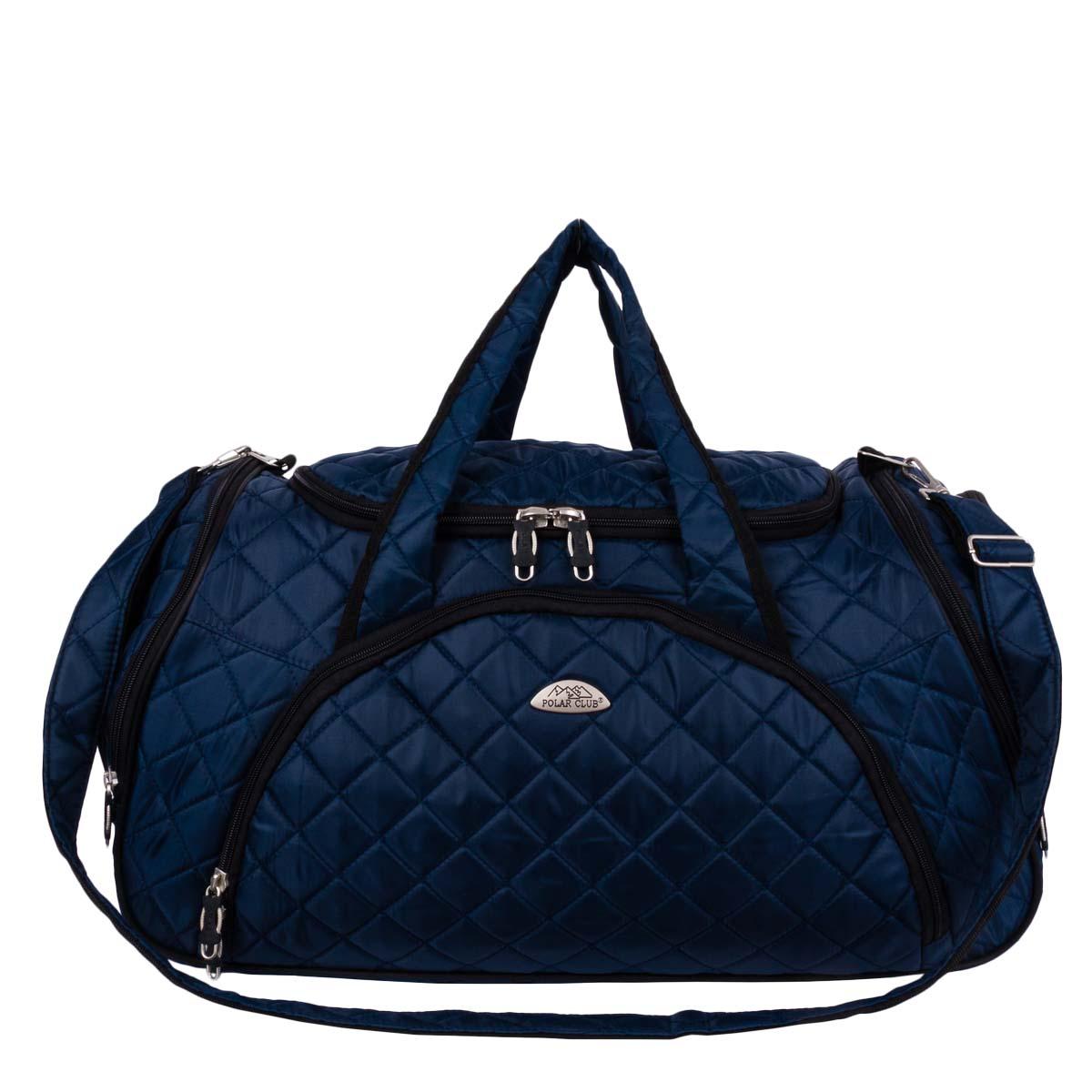 Сумка дорожная Polar, 35 л, цвет: синий. 70697069Вместительная и удобная дорожная сумка Polar . Основное отделение закрывается на молнию. Один из боковых карманов предназначен для обуви, мокрых вещей. Дополнительно снаружи большой карман на молнии спереди сумки и небольшие карманы по бокам. Сумка имеет мягкую конструкцию. В комплекте регулируемый съемный плечевой ремень.