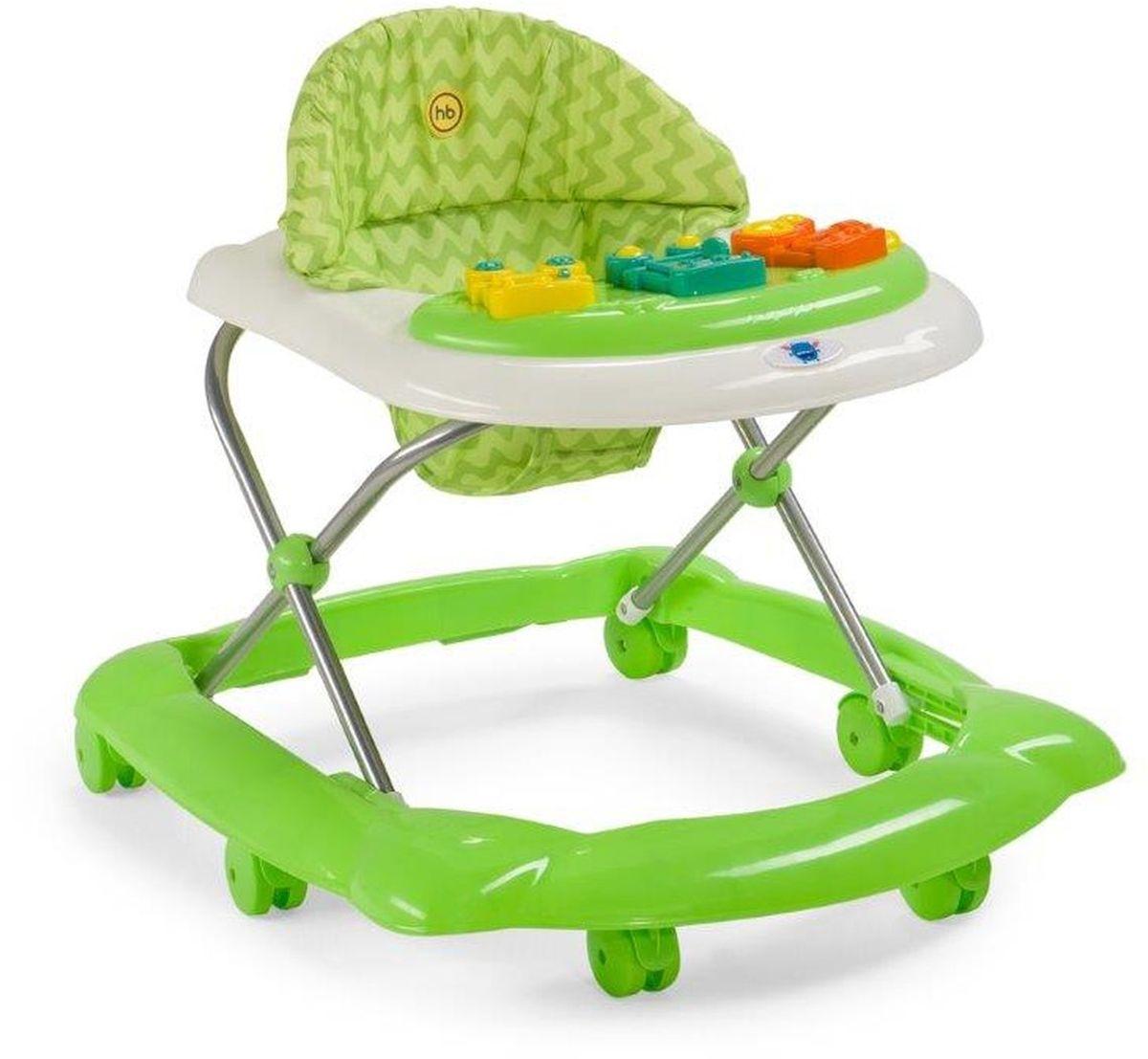 Happy baby Ходунки Pioneer цвет зеленый4650069783084Ходунки PIONEER помогут малышу стать настоящим первопроходцем, научат ребенка держать равновесие при ходьбе и подарят массу незабываемых эмоций от первых шагов и ярких, интересных игрушек. Сочетание ярких и оригинальных цветов привлекут к себе внимание ребенка. Игровая панель с развивающими игрушками поможет крохе освоить хватательный рефлекс, развить мелкую моторику, зрение и слух. Защиту малышу обеспечит широкая рама, а 6 пластиковых колесиков не повредят пол. Ходунки регулируются по высоте в 3 положениях. Мягкий чехол легко снять и постирать. Для работы игровой панели требуется 2 батареек типа АА. ХАРАКТЕРИСТИКИ Габариты в сложенном виде ДхШхВ: 67х58х30 см. Габариты в разложенном виде ДхШхВ: 67х58х57 см. Развивают координацию движений. Учат ребенка держать равновесие. Регулируются по высоте, 3 положения. Пластиковые колеса, 6 шт. Стопоры-ограничители движения ходунка, 2 шт. Игровая панель со звуковыми и световыми...