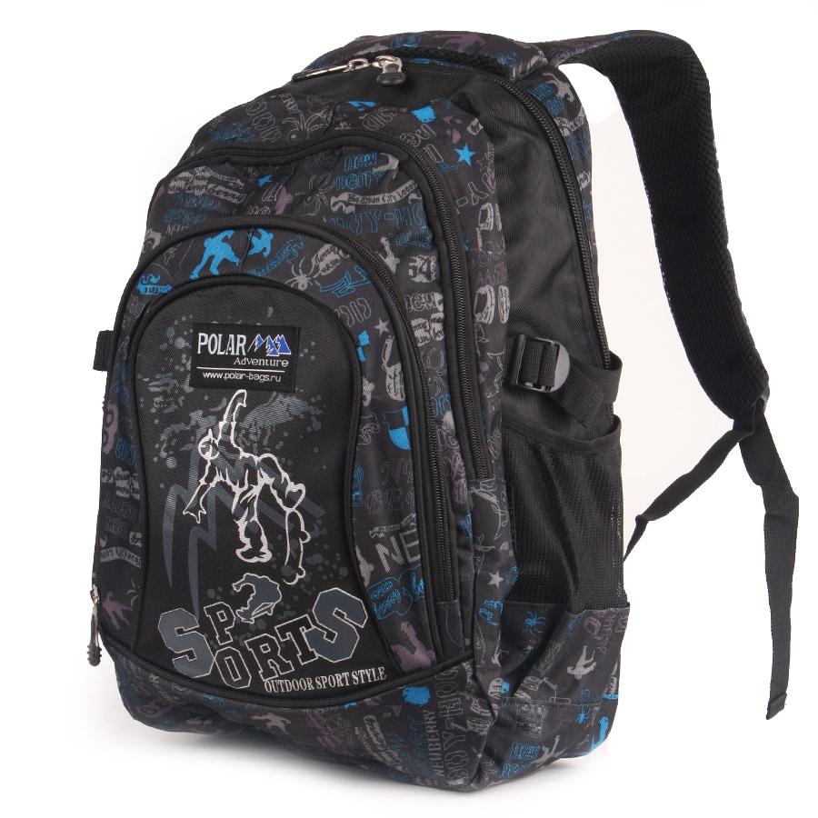 Рюкзак городской Polar, 28 л, цвет: черный. 80099