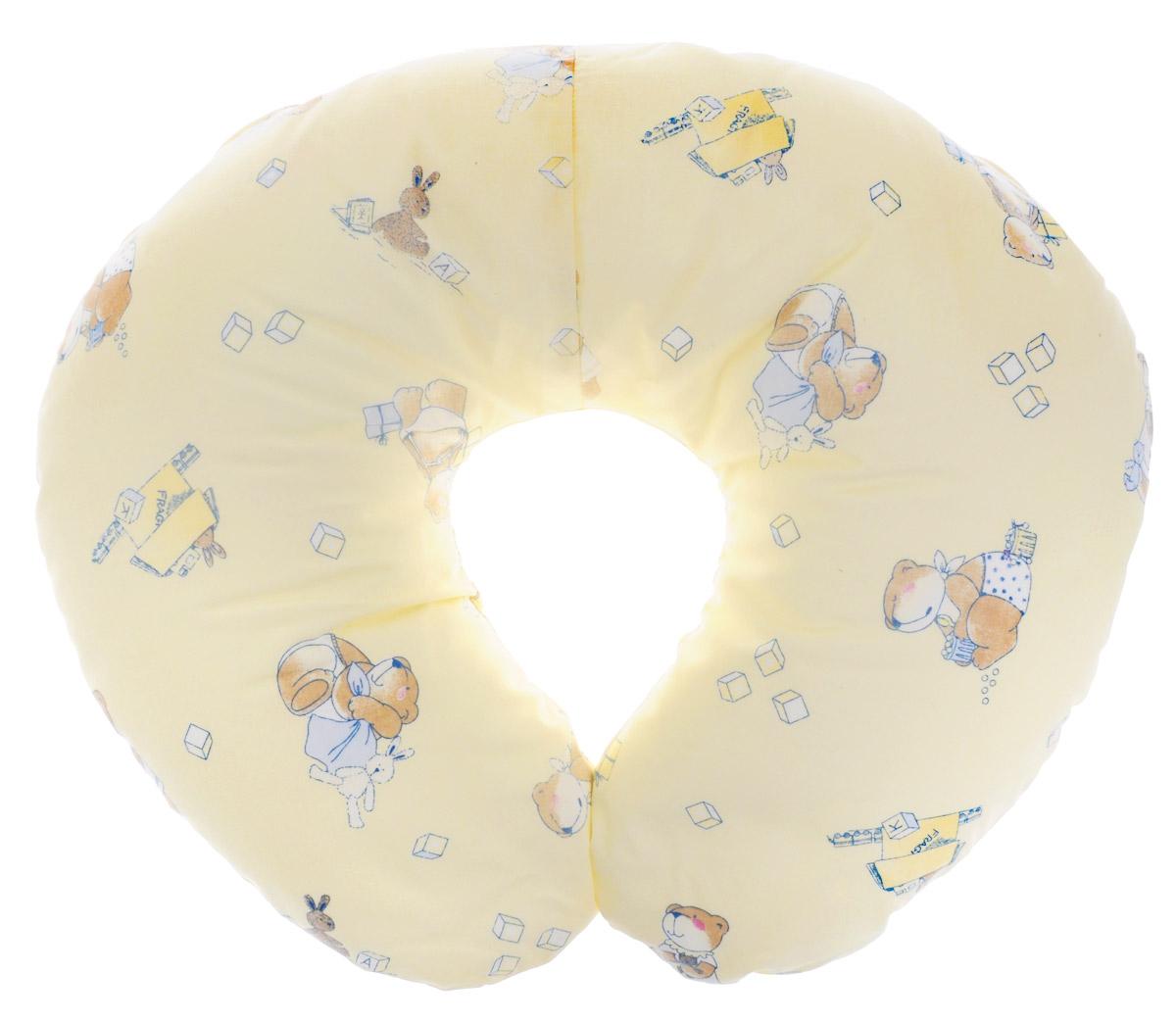 Plantex Подушка для кормящих и беременных мам Comfy Small Мишка и Заяц цвет желтый ( 1030_миша и заяц беж )