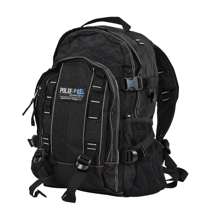 Рюкзак городской Polar, 29 л, цвет: черный. П876-05П876-05Городской рюкзак с модным дизайном. Полностью вентилируемая и удобная мягкая спинка, мягкие плечевые лямки создают дополнительный комфорт при ношении. Центральный отсек для персональных вещей и документов A4 на двухсторонних молниях для удобства. Маленький карман для mp3, CD плеера. Два боковых кармана под бутылки с водой на резинке. Система циркуляции воздуха Air. Материал Polyester.