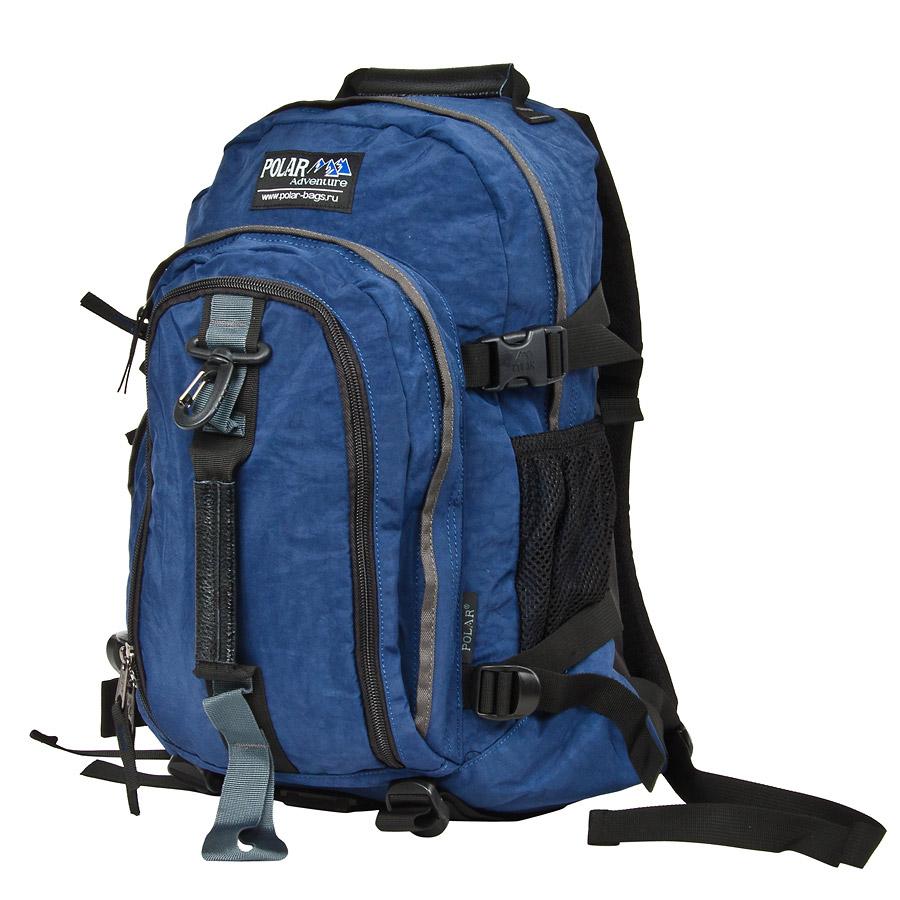 Рюкзак городской Polar, 27 л, цвет: синий. П1955-04П1955-04Городской рюкзак с модным дизайном. Полностью вентилируемая и удобная мягкая спинка, мягкие плечевые лямки создают дополнительный комфорт при ношении. Центральный отсек для персональных вещей и документов A4 на двухсторонних молниях для удобства. Маленький карман для mp3, CD плеера. Два боковых кармана под бутылки с водой на резинке. Регулирующая грудная стяжка с удобным фиксатором. Регулирующий поясной ремень, удерживает плотно рюкзак на спине, что очень удобно при езде на велосипеде или продолжительных походах. Система циркуляции воздуха Air. Материал Polyester.