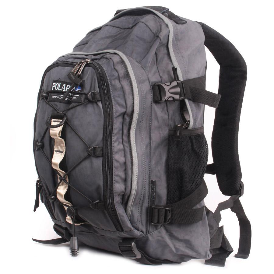Рюкзак городской Polar, 27 л, цвет: темно-серый. П1956-06П1956-06Городской рюкзак с модным дизайном. Полностью вентилируемая и удобная мягкая спинка, мягкие плечевые лямки создают дополнительный комфорт при ношении. Центральный отсек для персональных вещей и документов A4 на двухсторонних молниях для удобства. Маленький карман для mp3, CD плеера. Петли для снаряжения дают возможность крепления на рюкзак дополнительного оборудования. Два боковых кармана под бутылки с водой на резинке. Регулирующая грудная стяжка с удобным фиксатором. Регулирующий поясной ремень, удерживает плотно рюкзак на спине, что очень удобно при езде на велосипеде или продолжительных походах. Система циркуляции воздуха Air. Материал Polyester.