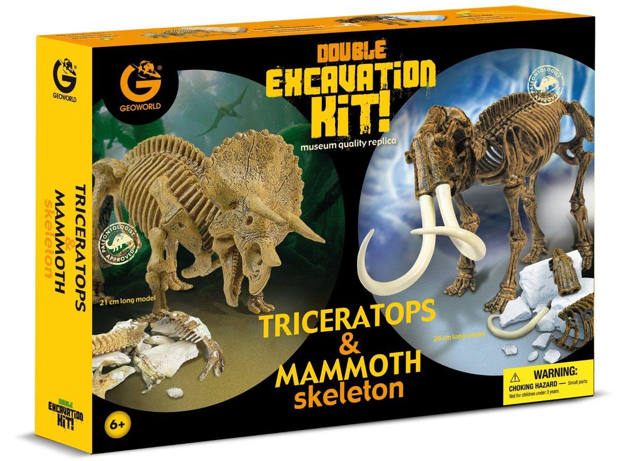 Geoworld Модель для раскопок Трицератопс и Мамонт