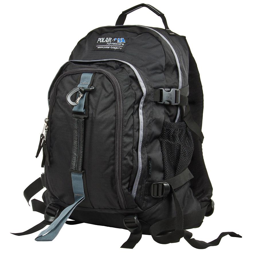 Рюкзак городской Polar, 27 л, цвет: черный. П3955-05П3955-05Городской рюкзак с модным дизайном. Полностью вентилируемая и удобная мягкая спинка, мягкие плечевые лямки создают дополнительный комфорт при ношении. Центральный отсек для персональных вещей и документов A4 на двухсторонних молниях для удобства. Маленький карман для mp3, CD плеера. Два боковых кармана под бутылки с водой на резинке. Регулирующая грудная стяжка с удобным фиксатором. Регулирующий поясной ремень, удерживает плотно рюкзак на спине, что очень удобно при езде на велосипеде или продолжительных походах. Система циркуляции воздуха Air. Материал Polyester PU 600D.