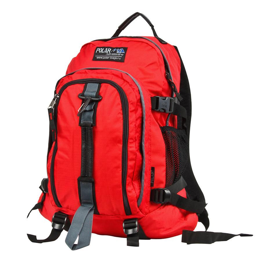 Рюкзак городской Polar, 27 л, цвет: красный. П3955-01П3955-01Городской рюкзак с модным дизайном. Полностью вентилируемая и удобная мягкая спинка, мягкие плечевые лямки создают дополнительный комфорт при ношении. Центральный отсек для персональных вещей и документов A4 на двухсторонних молниях для удобства. Маленький карман для mp3, CD плеера. Два боковых кармана под бутылки с водой на резинке. Регулирующая грудная стяжка с удобным фиксатором. Регулирующий поясной ремень, удерживает плотно рюкзак на спине, что очень удобно при езде на велосипеде или продолжительных походах. Система циркуляции воздуха Air. Материал Polyester PU 600D.