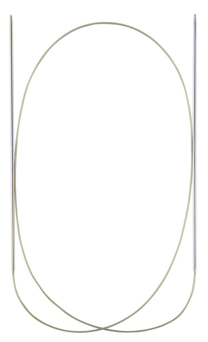 Спицы круговые Addi, супергладкие, диаметр 4 мм, длина 60 см105-7/4-60Спицы Addi, изготовленные из никеля, прекрасно подойдут для вязания изделий без швов. Короткими круговыми спицами вяжут бейки горловины, шапки и варежки, длинными спицами можно вязать по кругу целые модели, например, свитера и пуловеры. Полые и очень легкие спицы с удлиненным кончиком скреплены гибкой леской. Гладкое покрытие и тонкие переходы от спицы к шнуру позволяют петлям легче скользить. Малый вес изделия убережет ваши руки от усталости при вязании. Вы сможете вязать для себя, делать подарки друзьям. Работа, сделанная своими руками, долго будет радовать вас и ваших близких.