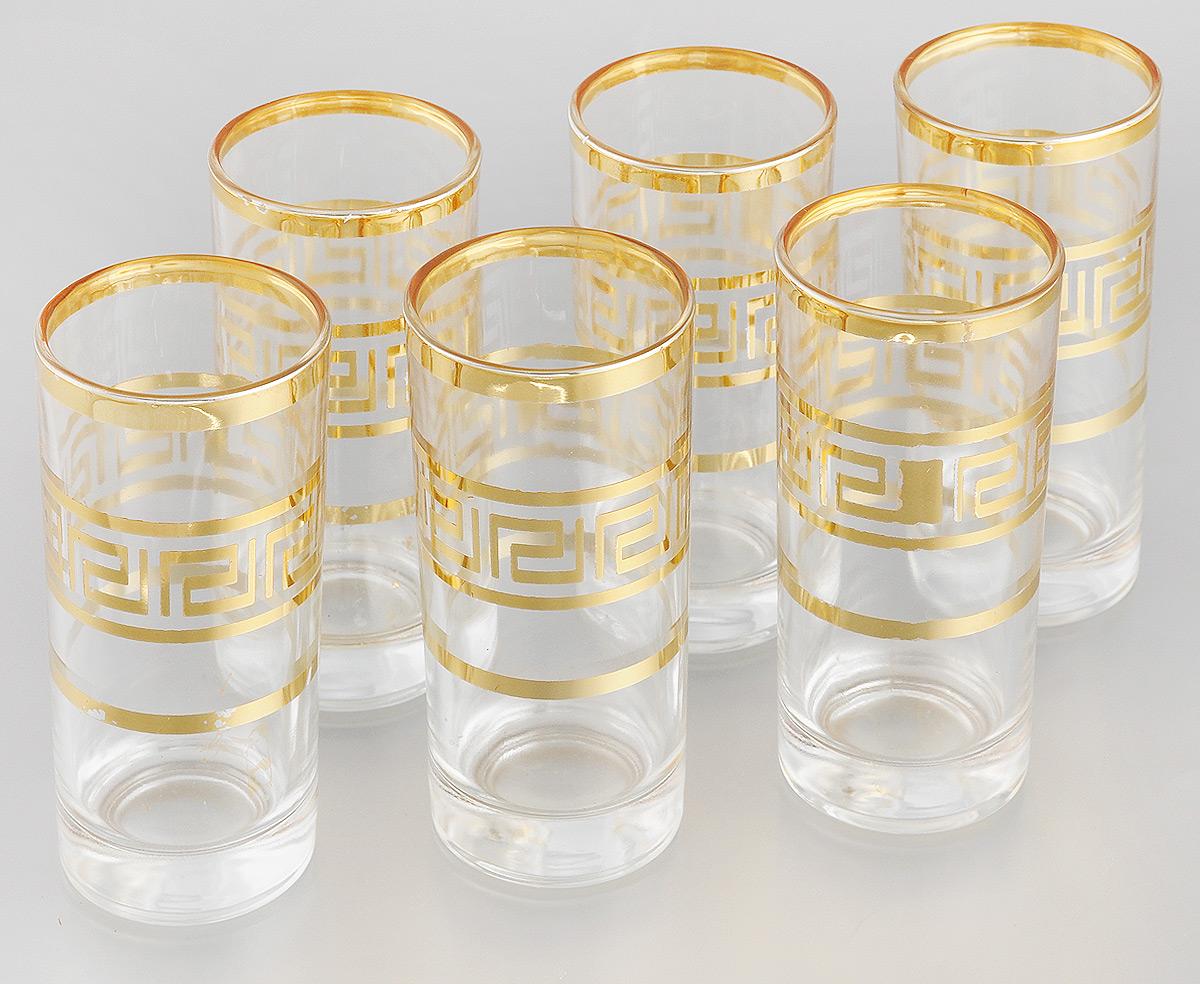 Набор стаканов Loraine, 260 мл, 6 шт24074Набор Loraine состоит из шести стаканов, выполненных из прочного высококачественного стекла. Изделия, декорированные золотистым орнаментом, сочетают в себе элегантный дизайн и функциональность. Стаканы предназначены для подачи воды, сока и других напитков. Они излучают приятный блеск и издают мелодичный звон. Такой набор прекрасно оформит праздничный стол и создаст приятную атмосферу за романтическим ужином. Не рекомендуется мыть в посудомоечной машине. Изделия подходят для хранения в холодильнике. Диаметр стакана (по верхнему краю): 6 см. Высота стакана: 13,7 см.