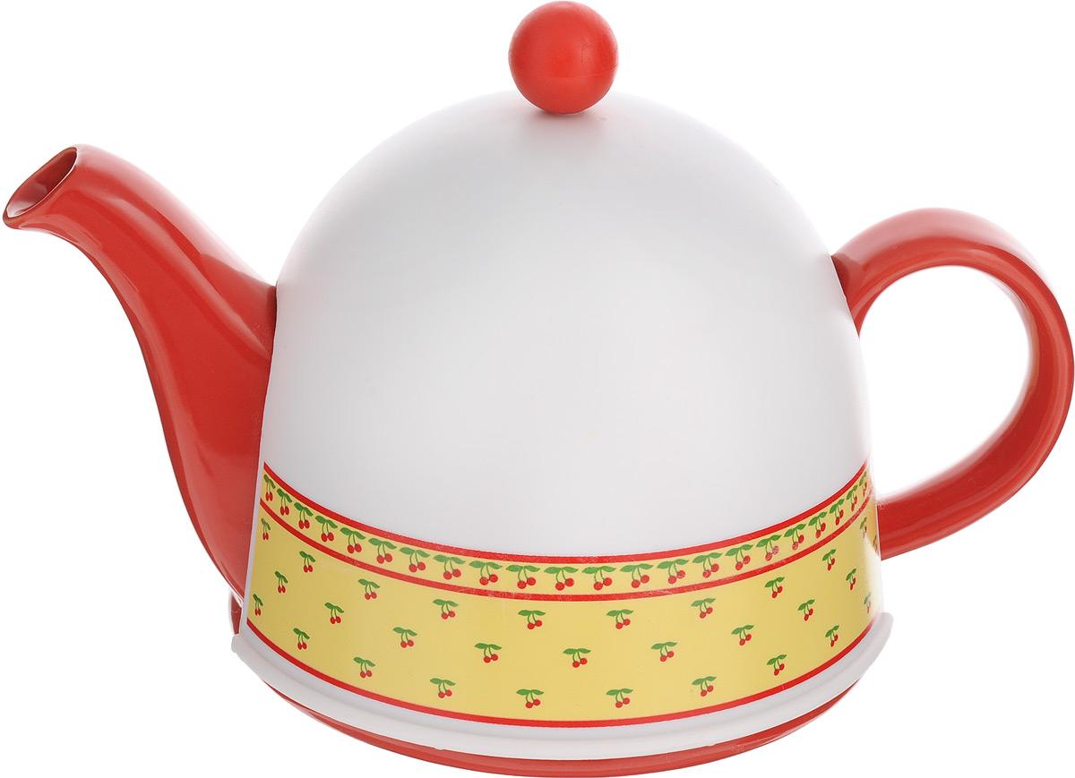 Чайник заварочный Mayer & Boch, с термоколпаком, с фильтром, 800 мл24307Заварочный чайник Mayer & Boch, выполненный из глазурованной керамики, позволит вам заварить свежий, ароматный чай. Чайник оснащен сетчатым фильтром из нержавеющей стали. Он задерживает чаинки и предотвращает их попадание в чашку. Сверху на чайник одевается термоколпак из пластика. Внутренняя поверхность термоколпака отделана теплосберегающей тканью. Он поможет дольше удерживать тепло, а значит, вода в чайнике дольше будет оставаться горячей и пригодной для заваривания чая. Заварочный чайник Mayer & Boch эффектно украсит стол к чаепитию, а также послужит хорошим подарком для ваших друзей и близких. Диаметр чайника (по верхнему краю): 6 см. Диаметр основания чайника: 14 см. Диаметр фильтра (по верхнему краю): 5,5 см. Высота фильтра: 5,8 см. Высота чайника (без учета термоколпака и крышки): 9,5 см. Размер термоколпака: 15 х 14 х 13,5 см.