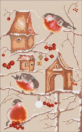 Набор для вышивания Марья Искусница Пташки по рисунку А. Логиновой, 25 см х 40 см. 03.010.0703.010.07Набор для вышивания Пташки по рисунку А. Логиновой 25 х 40 см В наборах Марья Искусница используются только высококачественные материалы - канва Aida (Германия), мулине Finca (Испания).