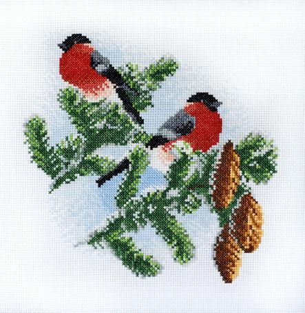 Набор для вышивания Марья Искусница Снегири, 20 см х 20 см. 03.011.0103.011.01Набор для вышивания Снегири 20 х 20 см В наборах Марья Искусница используются только высококачественные материалы - канва Aida (Германия), мулине Finca (Испания).
