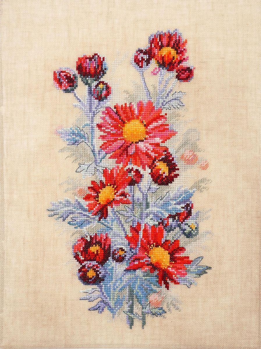 Набор для вышивания Марья Искусница Красные хризантемы, 20 см х 31 см. 04.004.0504.004.05Набор для вышивания Красные хризантемы 20 х 31 см В наборах Марья Искусница используются только высококачественные материалы - канва Aida (Германия), мулине Finca (Испания).