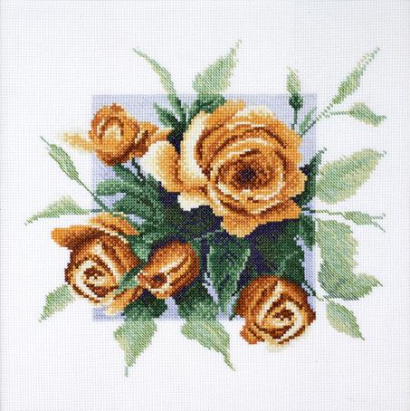 Набор для вышивания Марья Искусница Чайные розы по рис. А. Майской, 25 см х 25 см. 04.007.0804.007.08Набор для вышивания Чайные розы по рис. А. Майской Состав: канва Aida 14 молочная, мулине Finca 16цв. счетный крест 25х25 см серия Цветы, . В наборах Марья Искусница используются только высококачественные материалы - канва Aida (Германия), мулине Finca (Испания). Состав: канва Aida 14 молочная, мулине Finca 16цв