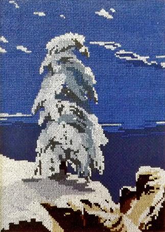 Набор для вышивания Марья Искусница На севере диком, И. Шишкин, 1891, 19 см х 26 см. 06.001.0106.001.01Набор для вышивания На севере диком, по картине И. Шишкин, 1891г, канва Aida 14 темно-синяя, мулине Finca 16цв счетный крест 19х26 см серия По картинам известных художников, . В наборах Марья Искусница используются только высококачественные материалы - канва Aida (Германия), мулине Finca (Испания). канва Aida 14 темно-синяя, мулине Finca 16цв