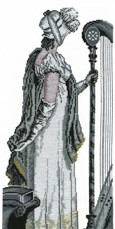 Набор для вышивания Марья Искусница Музыка настроения, 16 см х 32 см. 09.001.0109.001.01Набор для вышивания Музыка настроения, канва Aida 18 молочная, мулине Finca 9цв. счетный крест, 16х32 см серия Люди . канва Aida 18 молочная, мулине Finca 9цв