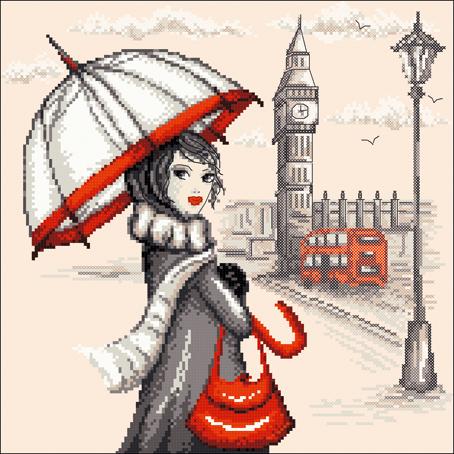 Набор для вышивания Марья Искусница Лондон по рисунку О. Куреевой, 25 см х 25 см. 09.005.0209.005.02Набор для вышивания Лондон по рисунку О. Куреевой 25 х 25 см В наборах Марья Искусница используются только высококачественные материалы - канва Aida (Германия), мулине Finca (Испания).