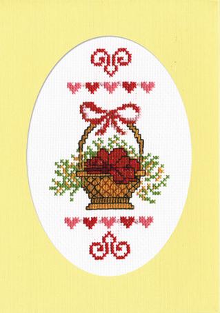 Набор для вышивания открытки Марья Искусница Корзина с поздравлениями, 11 см х 16 см. 10.001.0310.001.03Набор для вышивания, открытка Корзина с поздравлениями, канва Aida 14 молочная, мулине Finca 10цв., декоративное паспарту, счетный крест, 11х16см серия 8 марта, . В наборах Марья Искусница используются только высококачественные материалы - канва Aida (Германия), мулине Finca (Испания). канва Aida 14 молочная, мулине Finca 10цв., декоративное паспарту