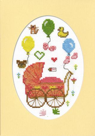 Набор для вышивания открытки Марья Искусница С рождением дочурки, 11 см х 16 см. 10.004.0110.004.01Набор для вышивания, открытка С рождением дочурки, канва Aida 14 молочная, мулине Finca 12цв., декоративное паспарту, счетный крест, 11х16см серия Поздравления, . В наборах Марья Искусница используются только высококачественные материалы - канва Aida (Германия), мулине Finca (Испания). канва Aida 14 молочная, мулине Finca 12цв., декоративное паспарту