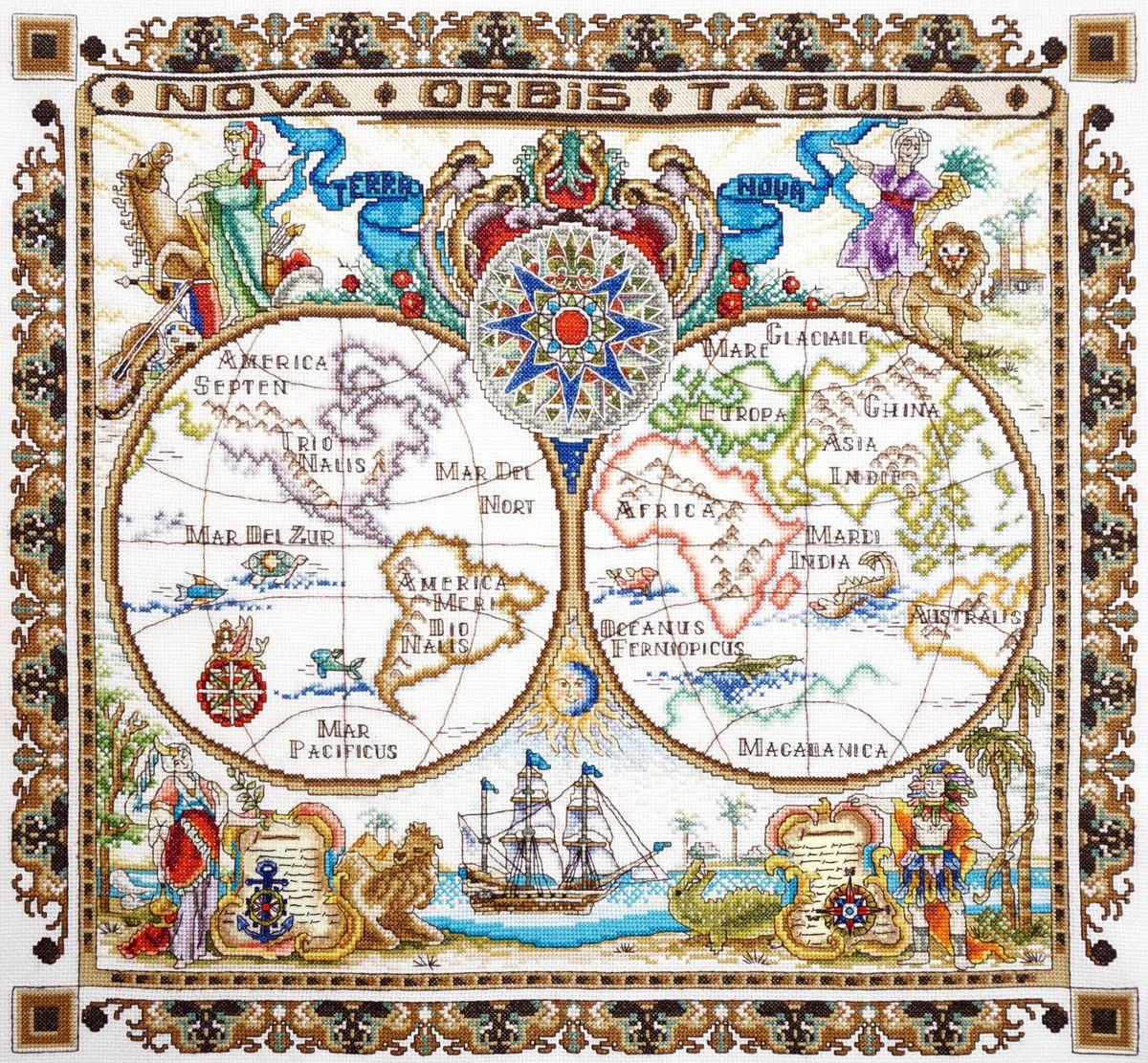 Набор для вышивания крестом Марья Искусница Карта мира, 50 х 45 см11.005.03Набор для вышивания крестом Марья Искусница Карта мира поможет создать красивую вышитую картину. Красивый и стильный рисунок-вышивка, выполненный на канве, выглядит оригинально и всегда модно. Работа, сделанная своими руками, создаст особый уют и атмосферу в доме и долгие годы будет радовать вас и ваших близких. А подарок, выполненный собственноручно, станет самым ценным для друзей и знакомых. В наборе есть все необходимое для создания вышивки на канве в технике счетный крест. В набор входит: - канва Aida Zweigart №14 (белого цвета), - мулине Finca (54 цвета), - черно-белая символьная схема, - инструкция на русском языке, - игла. Размер готовой работы: 50 х 45 см. Размер канвы: 57 х 52 см.
