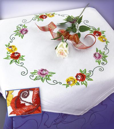 Скатерть для вышивания Марья Искусница Розы, 80 см х 80 см. 20.001.0520.001.05Скатерть Розы, набор для вышивания, мулине Finca 9 цв.,скатерть 80х80см, с нанесенным рисунком, цв. инструкция вышивка гладью 80х80см цветы . мулине Finca 9 цв.,скатерть 80х80см, с нанесенным рисунком, цв. инструкция